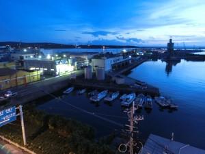 種子島港の風景